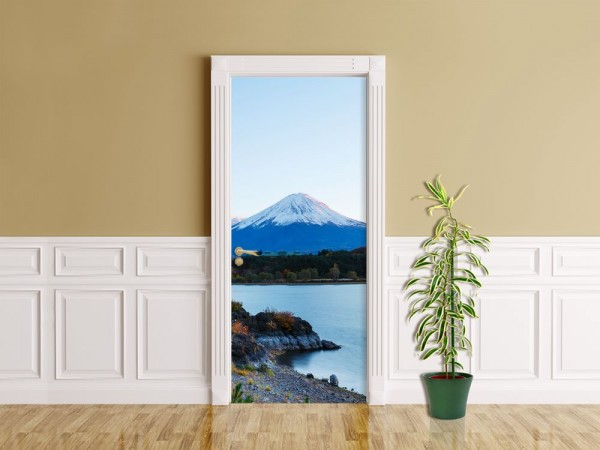 Türaufkleber - Fuji - Kawaguchiko See