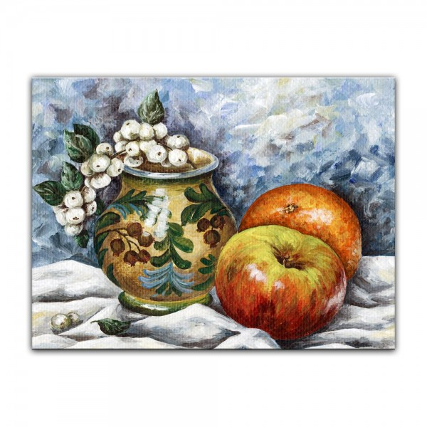 Leinwandbild - Kreuzdorn und Äpfel