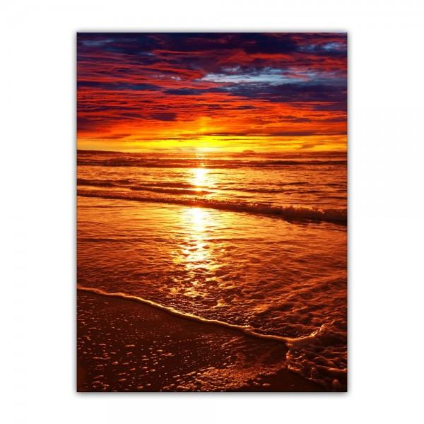 Leinwandbild - Sonnenuntergang