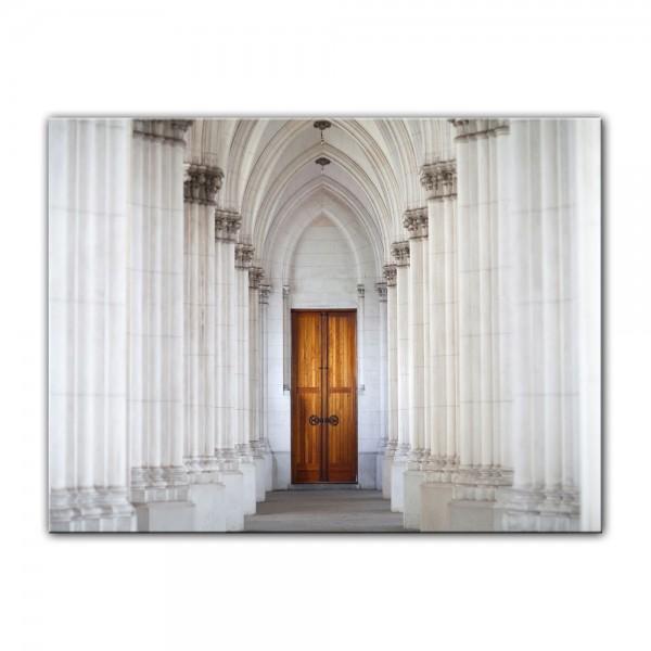 Leinwandbild - Säulengang