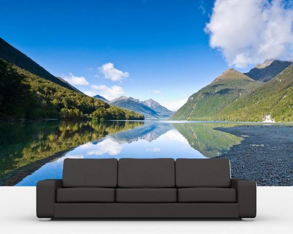 Fototapete - Lake Gunn - Neuseeland