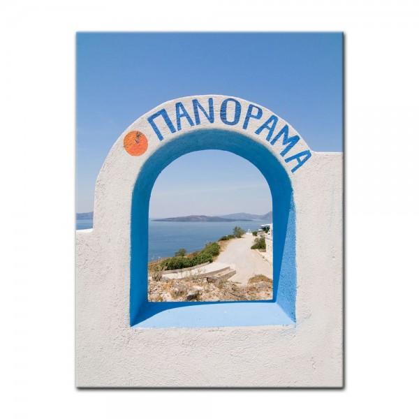 Leinwandbild - Santorini Tor II