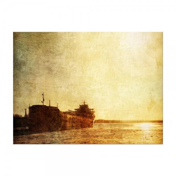 Leinwandbild - Old Ship-Vintage - Altes Schiff Vintage