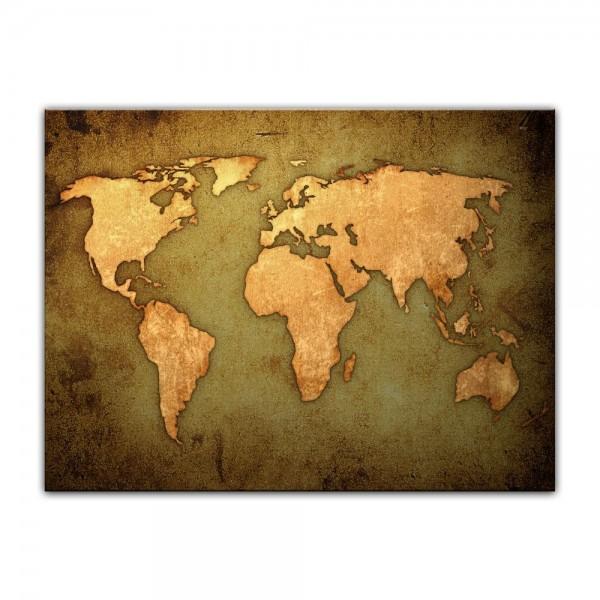 Leinwandbild - Weltkarte
