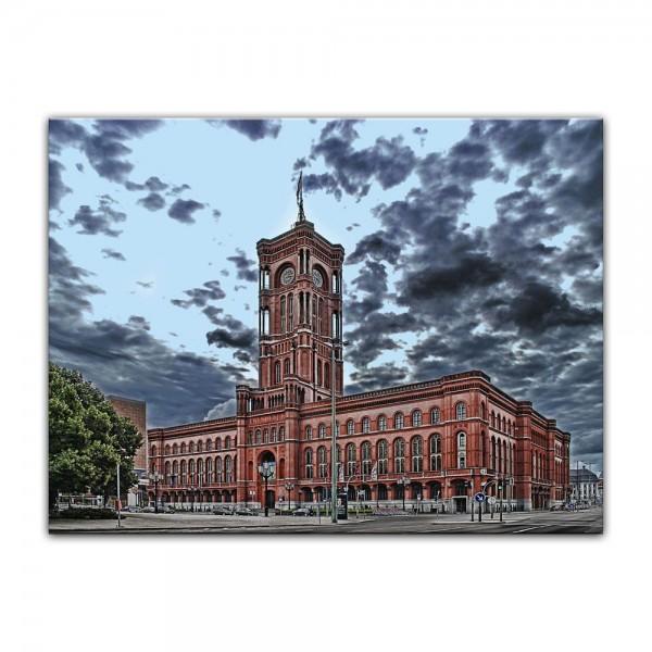 Leinwandbild - Rote Rathaus
