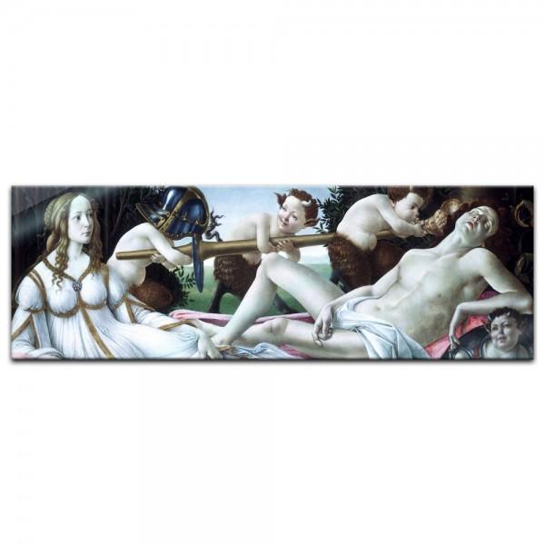 Glasbild Sandro Botticelli - Alte Meister - Venus und Mars