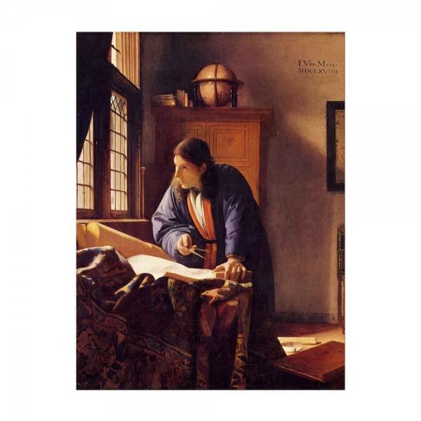 Leinwandbild - Jan Vermeer - Der Geograph