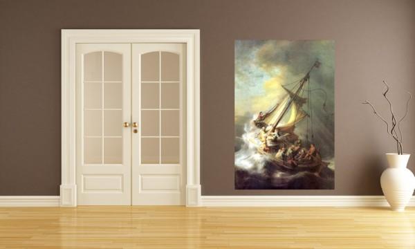 Fototapete Rembrandt - Alte Meister - Christus im Sturm auf dem See von Galilea
