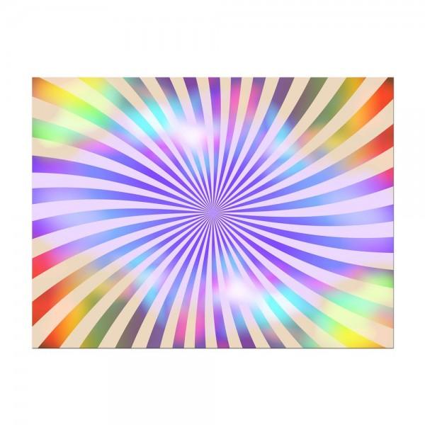 Leinwandbild - Regenbogenreihen retro