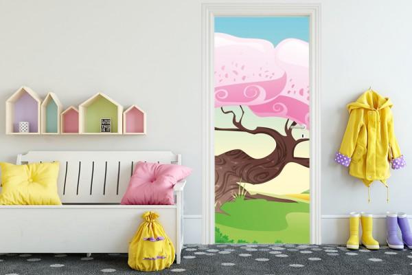 Türaufkleber - Kinderbild Märchenbaum