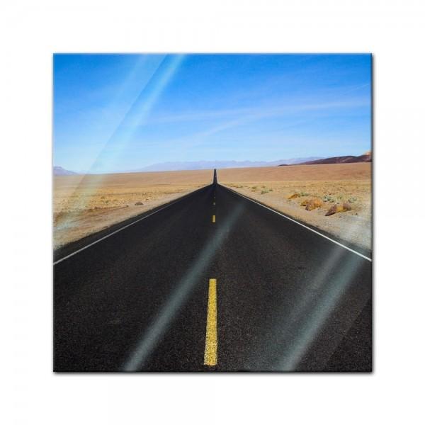 Glasbild - Wüstenstrasse - Death Valley