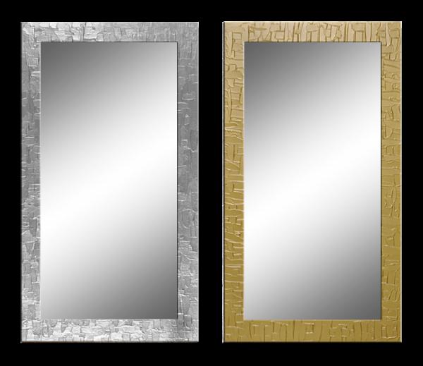Wandspiegel mit handbemaltem Rahmen - Kacheloptik - ca. 105x65 cm
