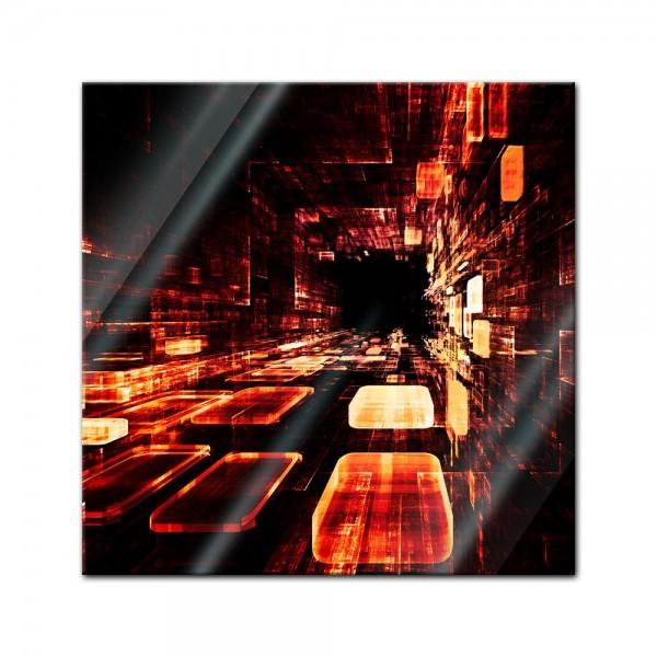 Glasbild - Abstrakte Kunst LII