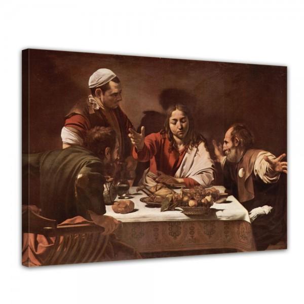 SALE Leinwandbild - Caravaggio Das Abendmahl des Emmaus - 120x90 cm