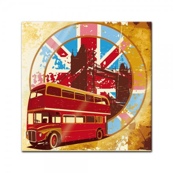 Glasbild - London Retro