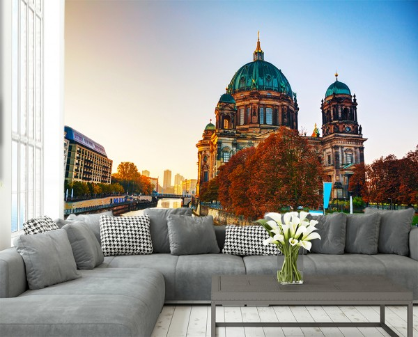 Fototapete - Berliner Dom auf der Museumsinsel an der Spree