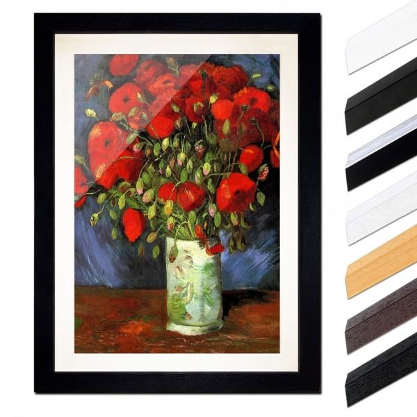 Vincent van Gogh - Vase mit roten Mohnblumen