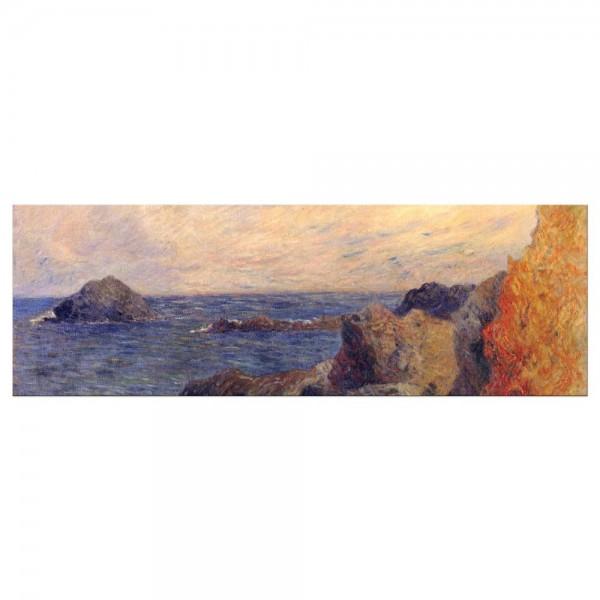 Leinwandbild - Paul Gauguin - Felsige Meerküste