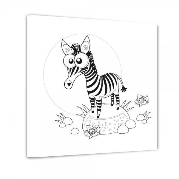 Zebra - Ausmalbild