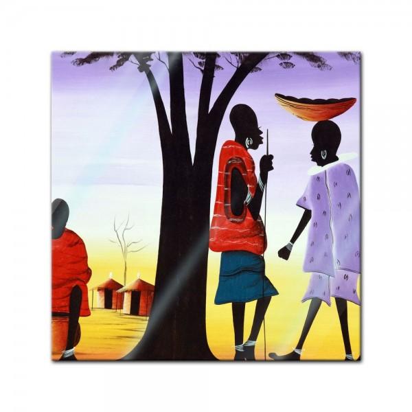 Glasbild - Afrika Design II