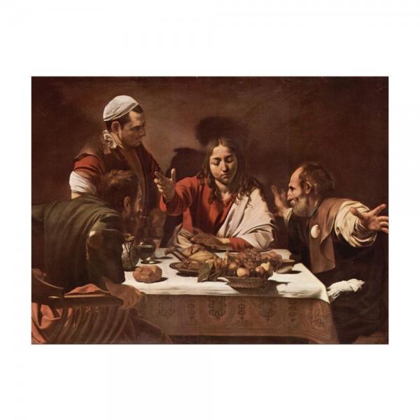 Leinwandbild - Caravaggio - Das Abendmahl in Emmaus