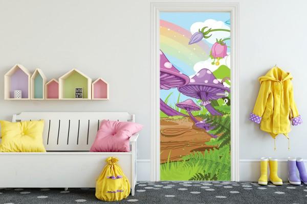 Türaufkleber - Kinderbild Märchenwald