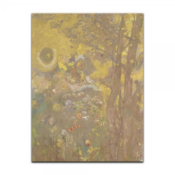 Leinwandbild - Odilon Redon - Bäume auf einem gelben Hintergrund