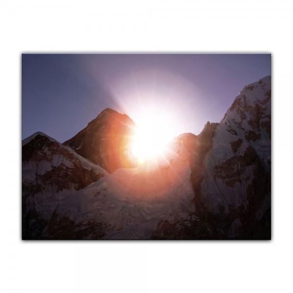 Leinwandbild - Mount Everest - Sonnenstrahlen