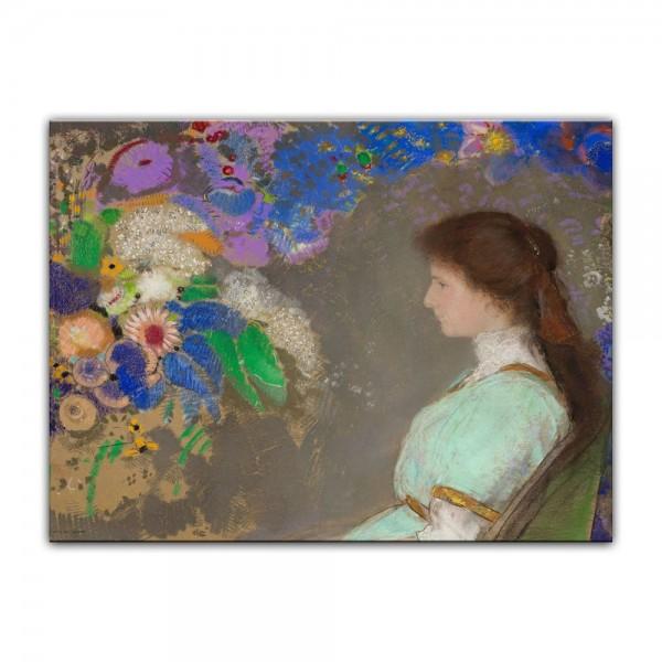 Leinwandbild - Odilon Redon - Portrait of Violette Heymann