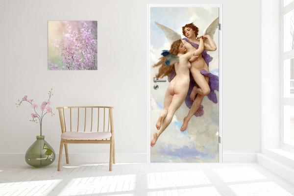 Türtapete - William-Adolphe Bouguereau - Amor und Psyche 90 x 200 cm