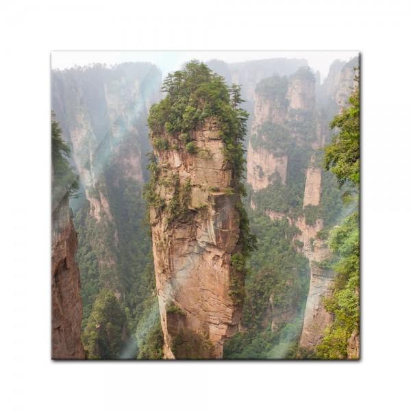 Glasbild - Berg in Zhangjiajie - China