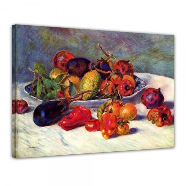 SALE Leinwandbild - Pierre-Auguste Renoir Stillleben mit Südfrüchten - 70x50 cm