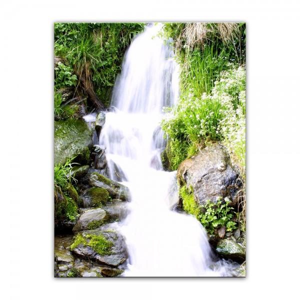 Leinwandbild - Kleiner Wasserfall