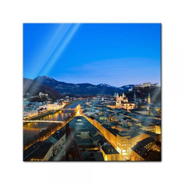 Glasbild - Salzburg Österreich