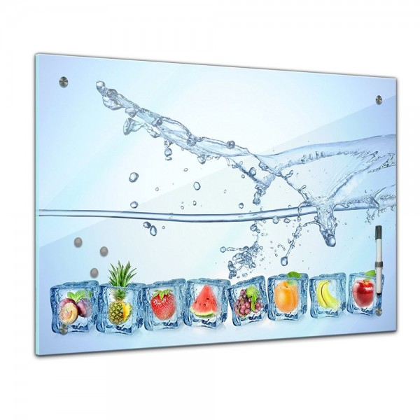 Memoboard - Essen & Trinken - Eiswürfel mit Wasserspritzer