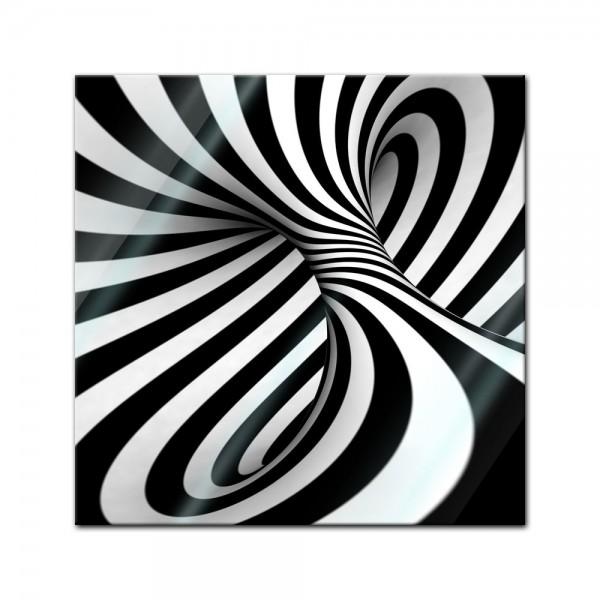 Glasbild - Abstrakte 3D Spirale
