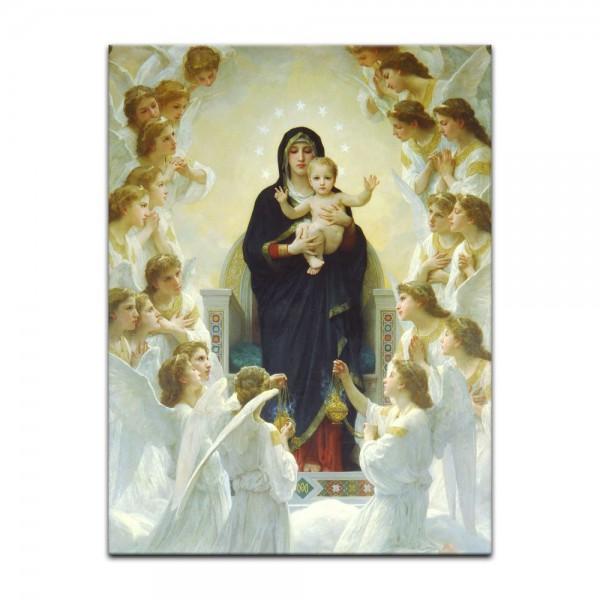 Leinwandbild - William-Adolphe Bouguereau - Die Jungfrau mit Engel