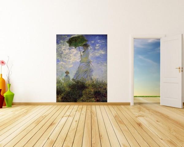 Fototapete Claude Monet - Alte Meister - Frau mit Sonnenschirm