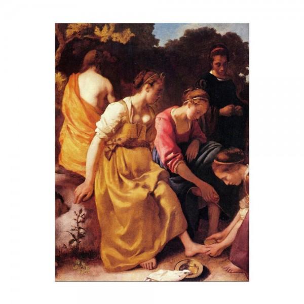 Leinwandbild - Jan Vermeer - Diana mit ihren Gefährtinnen