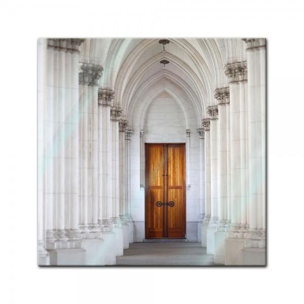 Glasbild - Säulengang