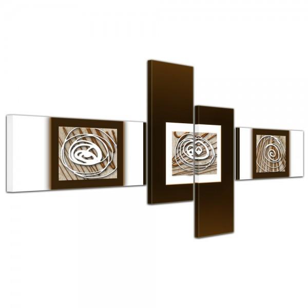 Abstrakte Kunst Abstrakt XIV - 140x65cm 4 teilig