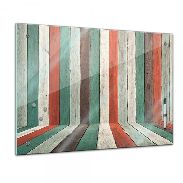 Memoboard - Textur & Hintergrund - Textur buntes Holz