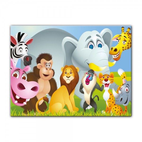 Leinwandbild - Kinderbild - Tiere Cartoon IV