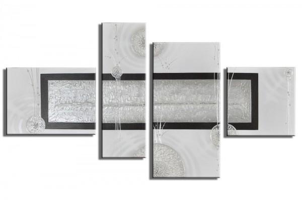SALE Abstrakte Kunst handgemaltes Leinwandbild 120x70cm 4 teilig 3024