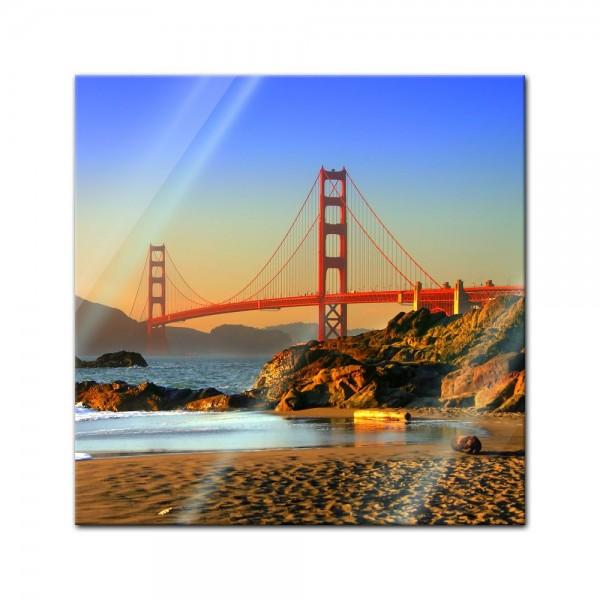 Glasbild - Golden Gate
