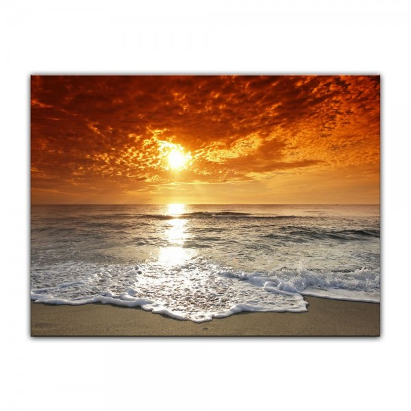 Leinwandbild - Sonnenuntergang in Korsika
