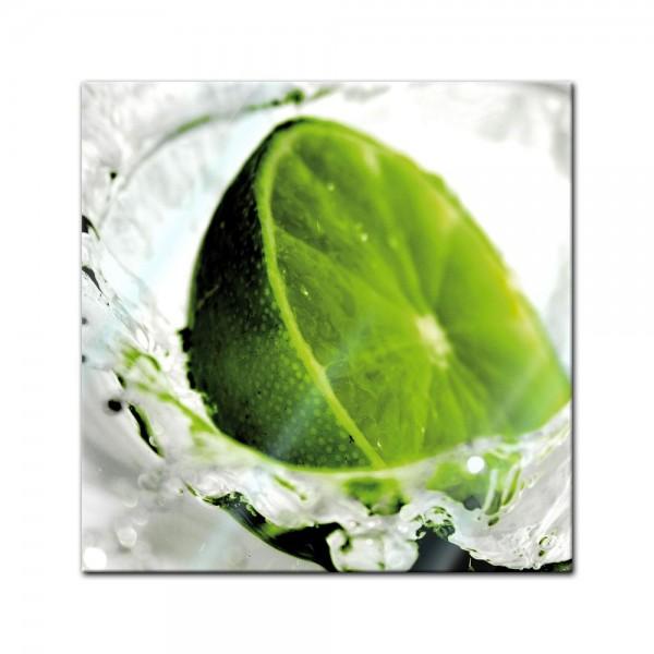 Glasbild - Limette