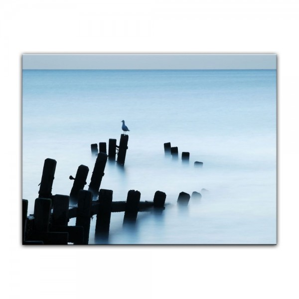Leinwandbild - Moonlit Sea, Norfolk