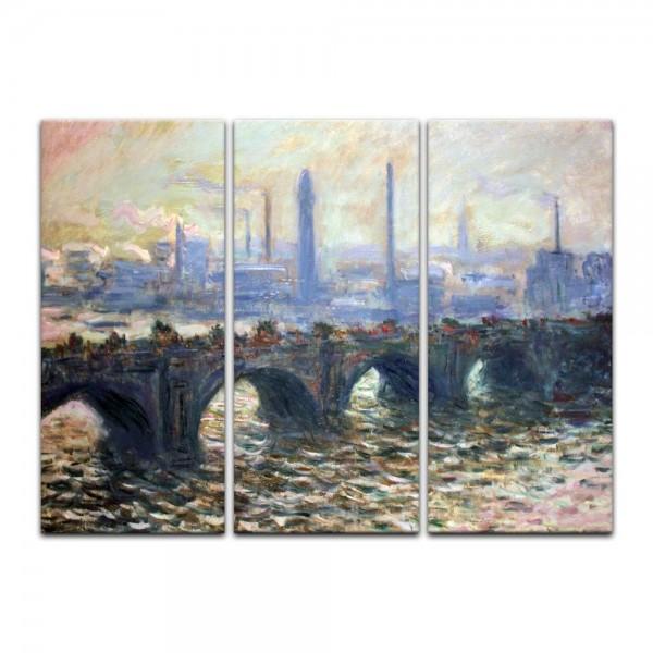 Leinwandbild - Claude Monet - Die Waterloo Brücke